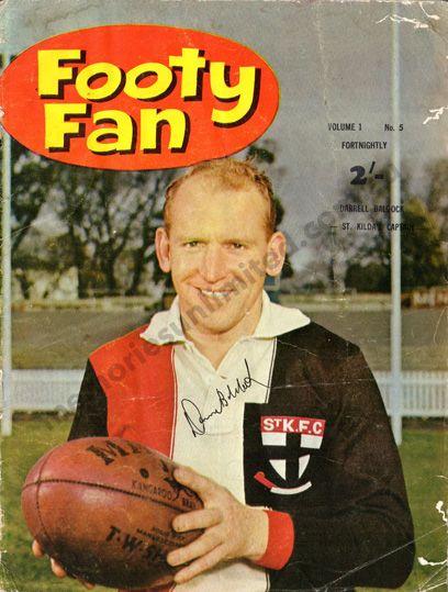 vfl memorabilia, footy fan, 1963, saints fc