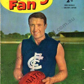 footy fan 1963, vintage, carlton blues, vfl memorabilia
