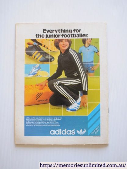 The Australian Footballer magazine, The Junior Footballer, adidas vintage track top, 1970's