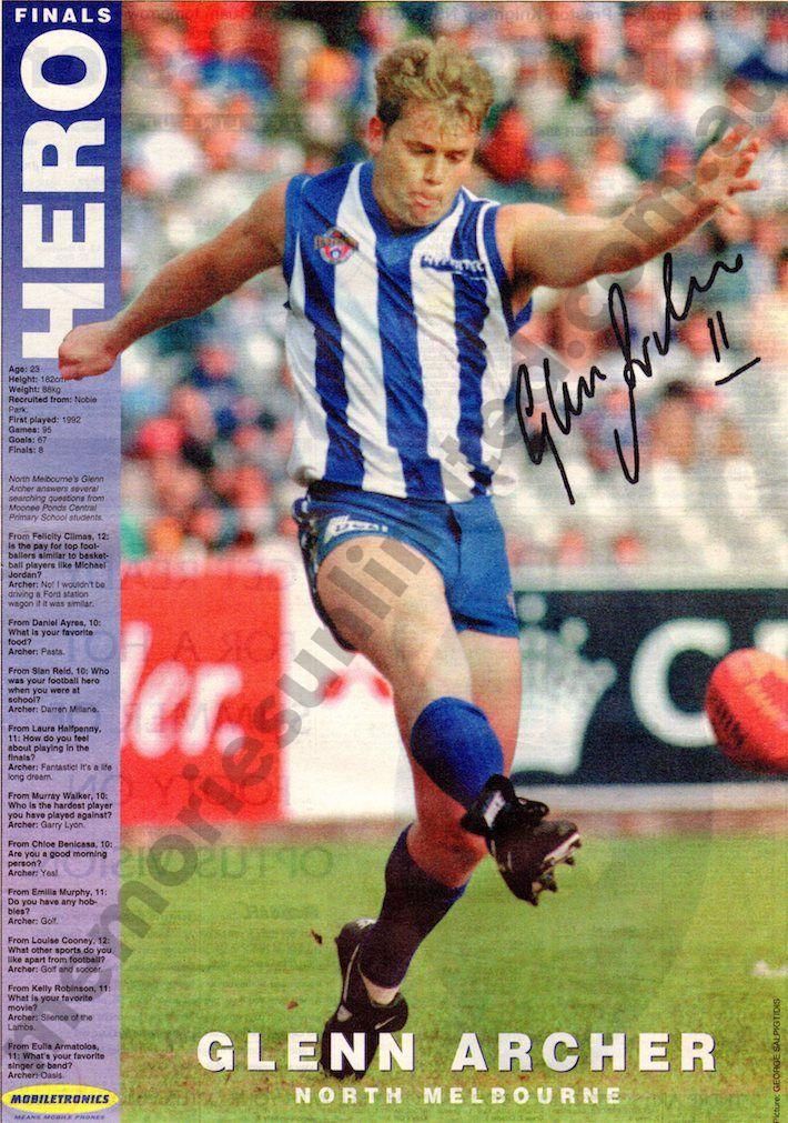 97862b530591e Glenn Archer Pin Up (1996 September Herald Sun) – Memories Unlimited