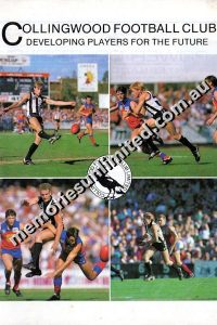 Collingwood Football Club Developing Players for the Future 1988 Booklet