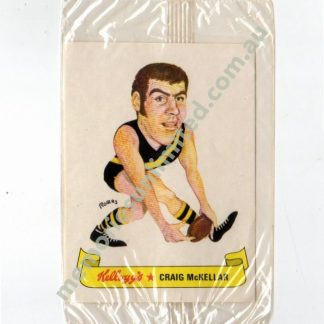 craig mckellar sticker kellogg, vfl kellogg's card, rare vfl afl card, richmond tigers