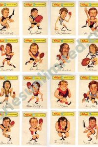 SET OF 24 [ROGERS ART] (1974 KELLOGG'S 'VFL FOOTY STARS STIK-ONS')