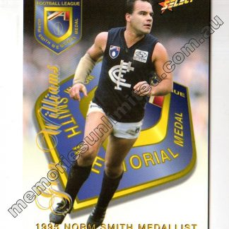 LIMITED EDITION OVERSIZE CARD CARLTON – GREG WILLIAMS (1996 SELECT THE ULTIMATE COLLECTION SERIES 1)
