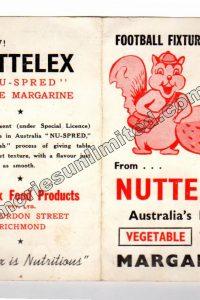 1954 NUTTELEX (1954 VFL FOOTBALL FIXTURE)