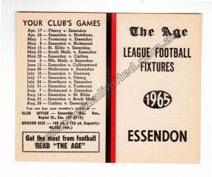 VFL Memorabilia, AFL Collectables, Fixture