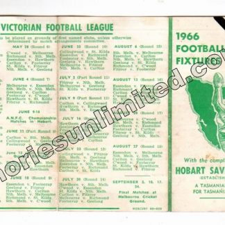 VFL Memorabilia, AFL Collectables, Fixture, new norfolk