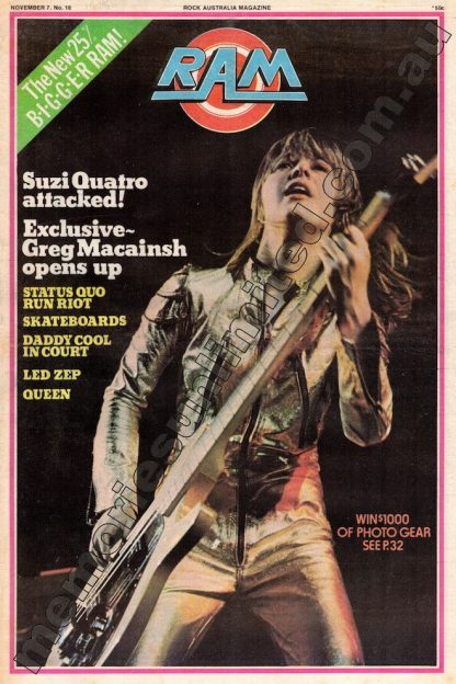 RAM, Rock Australia Magazine, vintage, 1970's, Pop culture, music, rare, collectables, memorabilia