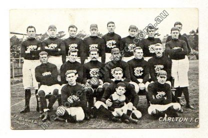 VFL AFL memorabilia, collectables, aussie rules, Australian Football, footy, photo, 1909, carlton, rare, post card