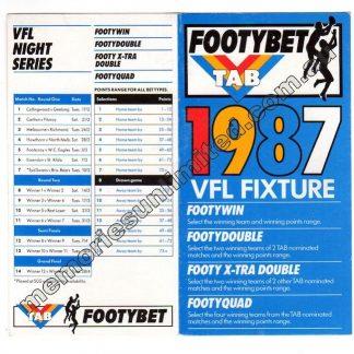 AFL VFL MEMORABILIA, FIXTURE, MATCHPROGRAMME, VFL collectables