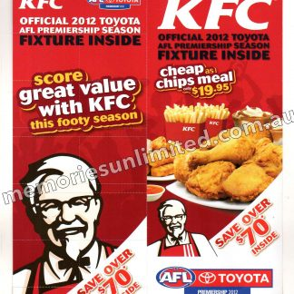 kentucky fried chicken, afl vfl memorabilia