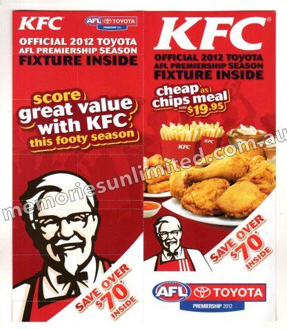 kentucky fried chicken, afl vfl memorabilia