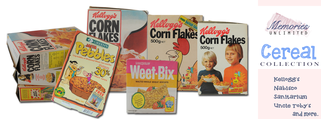 General Mills, Green's, John Bull, Kellogg's, Lowan, Nabisco, Nestle, Sanitarium, Uncle Toby's, Weetbix, Whitebix, Willow Valley, Collectables, memorabilia, Melbourne, Australia