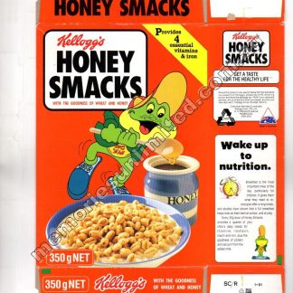 Kellogg's vintage cereal package boxes, Collection, rare, Honey Smack