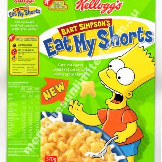 Bart Simpson's, Advertising, collectables, memorabilia, rare, vintage, cereal package, culture, cornflakes, retro, kellogg's