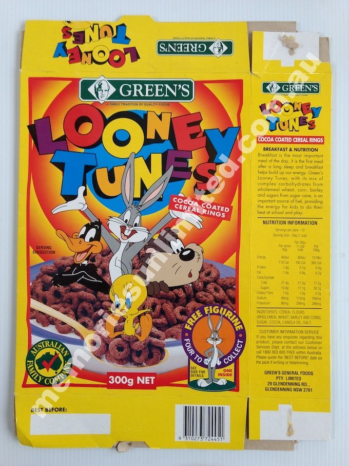 Looney Tunes Figurines 1996 Greens 300g Disassembled Box