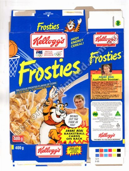 Kellogg's vintage cereal package boxes, Collection, rare, FROSTED FLAKES , SUGAR FROSTIES, FROSTIES, 90's