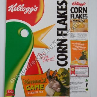 Advertising, collectables, memorabilia, rare, vintage, cereal package box, culture, cornflakes, retro, kellogg's, 70's, Australia, Melbourne, Dream Works