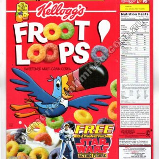 Kellogg's vintage cereal package boxes, Froot Loops, Collection, rare