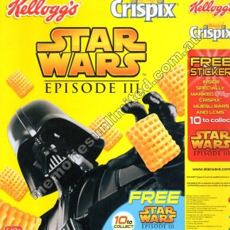 Darth Vader, Revenge of the Sith, Advertising, collectables, memorabilia, rare, vintage, cereal package box, culture, crispix, retro, kellogg's, 2000