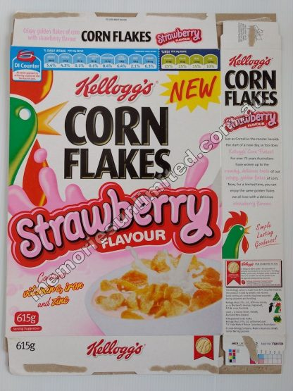 Advertising, collectables, memorabilia, rare, vintage, cereal package box, culture, cornflakes, retro, kellogg's, 2000's, Australia, Melbourne