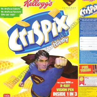 Advertising, collectables, memorabilia, rare, vintage, cereal package box, culture, crispix, retro, kellogg's, 2000