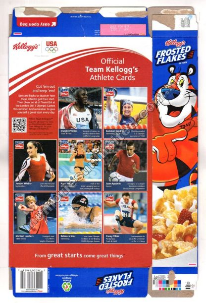 Kellogg's vintage cereal package boxes, Collection, rare, FROSTED FLAKES , SUGAR FROSTIES, FROSTIES, 2010's