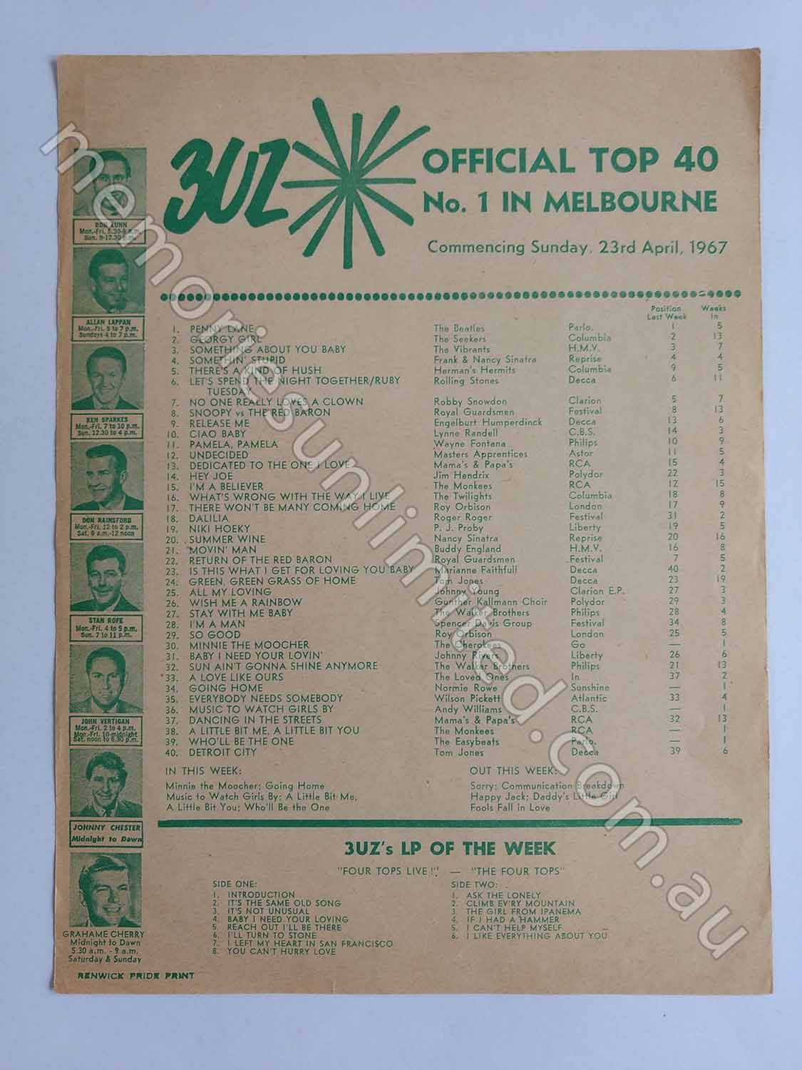 1967 04 23 OFFICIAL TOP 40