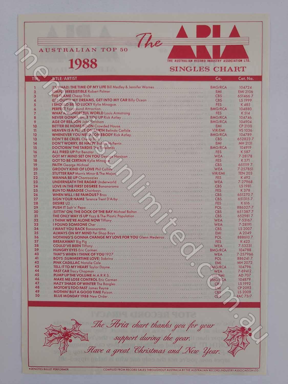1988 TOP 50 SINGLES-ALBUMS
