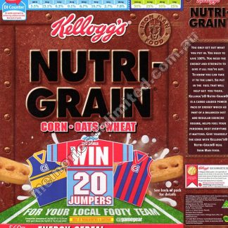 Kellogg's vintage cereal package boxes, Collection, rare, nutri-grain