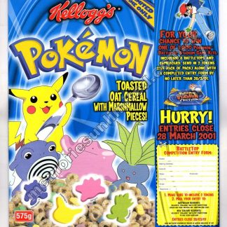 vintage cereal package boxes, Collection, rare, collectable, culture, pokemon, pocket monster